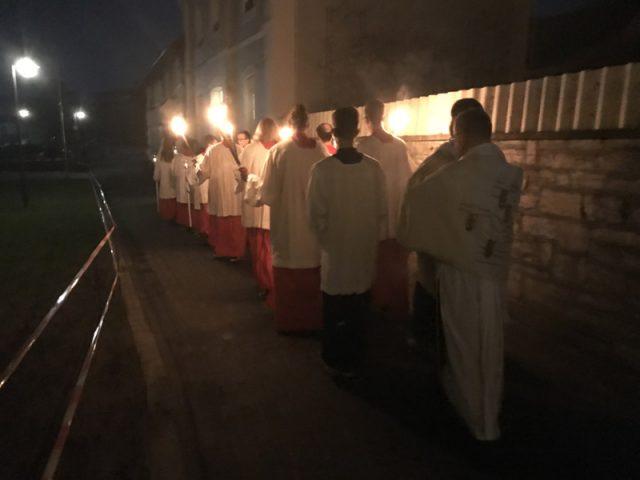 Übertragung des Allerheiligsten zur Stiftskirche