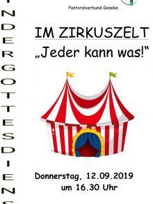 Kindergottesdienst im Zirkuszelt