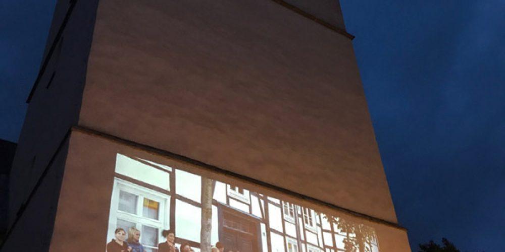 800 Jahre Stadt Geseke: Bebilderter Kirchturm