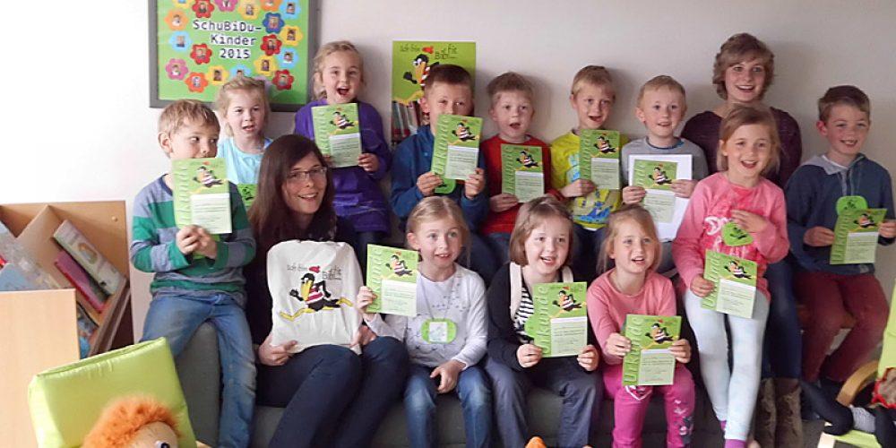 Bibliotheksführerschein mit dem Kath. Kindergarten Maria Frieden